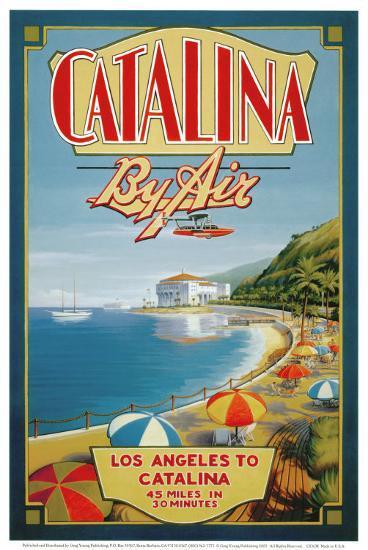 Catalina by Air-Kerne Erickson-Art Print