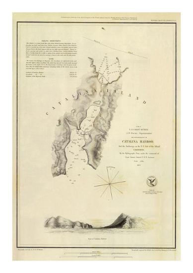 Catalina Harbor, California, c.1852--Art Print