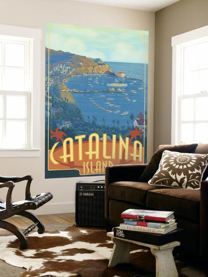 Catalina Island, California, Travel Scene-Lantern Press-Wall Mural