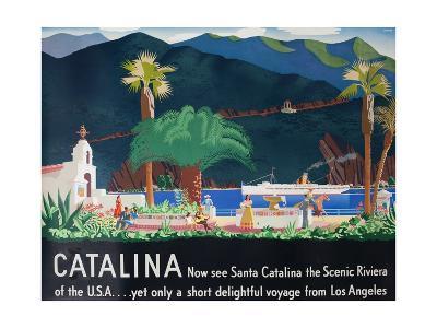 Catalina Island Travel Poster--Giclee Print