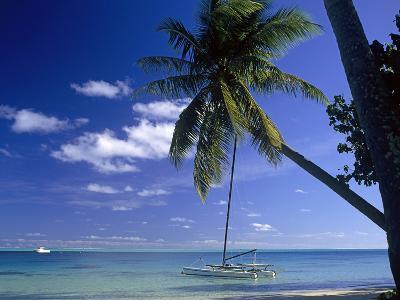 Catamaran Bora Bora-Ron Whitby Photography-Photographic Print