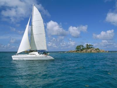 Catamaran, Island of Praslin, Seychelles, Indian Ocean, Africa-Bruno Barbier-Photographic Print