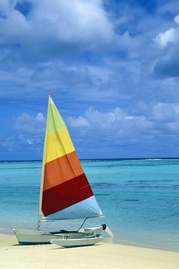Catamaran on Tropical Beach-Design Pics Inc-Photographic Print