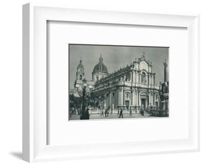 Catania Cathedral, Sicily, Italy, 1927-Eugen Poppel-Framed Photographic Print