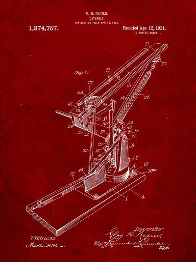 Catapult Patent 1921-Cole Borders-Art Print