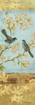 Catbirds and Blooms Panel-Pamela Gladding-Art Print