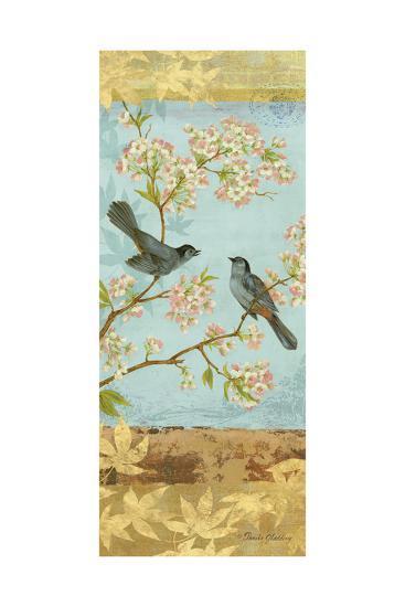 Catbirds & Blooms Panel-Pamela Gladding-Art Print