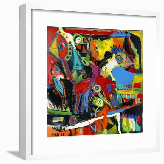 Catch the Bird-Martin Kalhoej-Framed Art Print