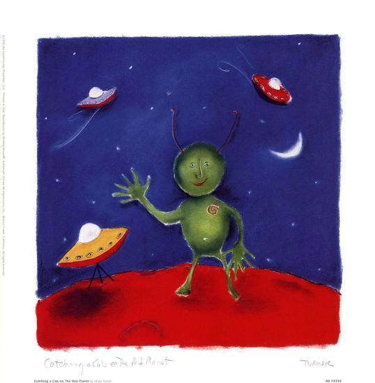 Catching A Cab On The Red Planet-Dona Turner-Art Print