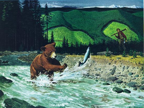 Catching Salmon-Bruce Bontrager-Giclee Print