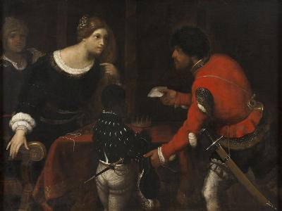 Caterina Cornaro, Queen of Cyprus, Receiving a Letter from the Council-Giuseppe Caletti-Giclee Print