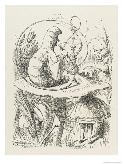 Caterpillar Alice and the Caterpillar-John Tenniel-Giclee Print