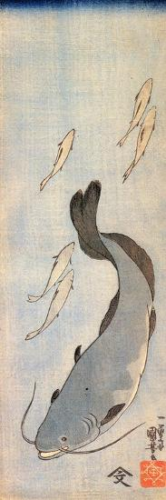 Catfish 2-Kuniyoshi Utagawa-Giclee Print