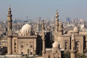 Egypt, Cairo, Citadel, View at Mosque-Madrassa of Sultan Hassan by Catharina Lux