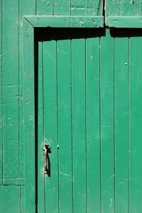 Farm, Green Barn Door, Detail by Catharina Lux