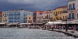 Greece, Crete, Chania, Venetian Harbour, Waterside Promenade by Catharina Lux