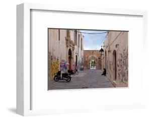 Greece, Crete, Rethimnon, Lane with Graffiti by Catharina Lux