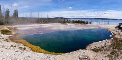 Panorama, USA, Yellowstone National Park, Black Pool