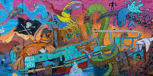Reykjavik, Facade, Colourful, Graffiti-Catharina Lux-Photographic Print