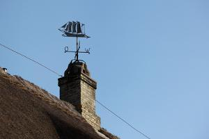 Schleswig-Holstein, Sieseby, Typical Residential House, Detail, Chimney, Weather Vane by Catharina Lux