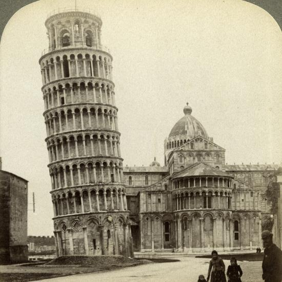 Cathedral and Leaning Tower of Pisa, Italy-Underwood & Underwood-Photographic Print