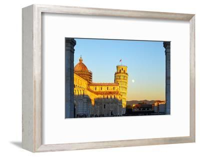 Cathedral and Leaning Tower of Pisa-George Oze-Framed Photographic Print