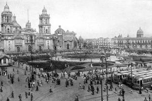 Cathedral and National Palace, Mexico City, Mexico, 1926