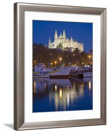 Cathedral and Port, Palma, Majorca, Balearic Islands, Spain, Mediterranean, Europe-Marco Cristofori-Framed Photographic Print