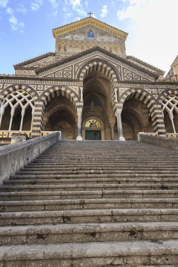 Cathedral and Steps with No People, Amalfi, Costiera Amalfitana (Amalfi Coast), Campania, Italy-Eleanor Scriven-Photographic Print