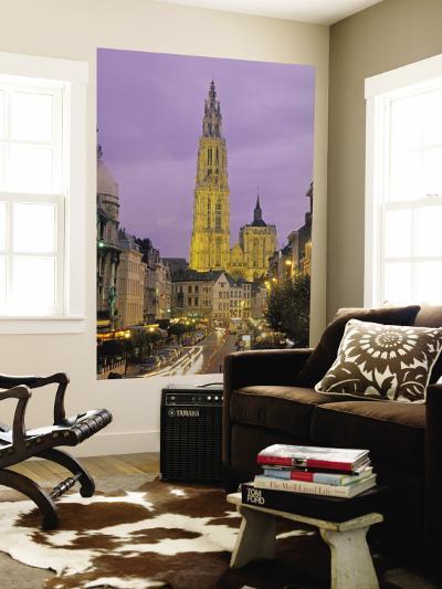 Cathedral at Antwerp, Belgium-Demetrio Carrasco-Wall Mural