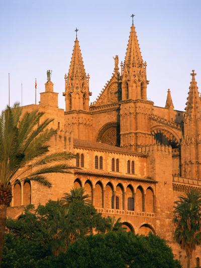Cathedral at Palma, on Majorca, Balearic Islands, Spain, Europe--Photographic Print