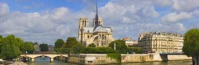 Cathedral at the Riverside, Notre Dame Cathedral, Seine River, Paris, Ile-De-France, France