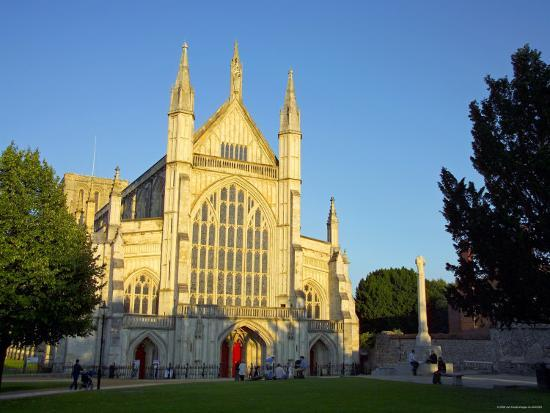 Cathedral at Winchester, Hampshire, England-Alan Copson-Photographic Print