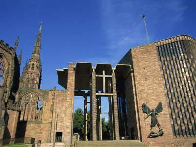 Cathedral Church of St. Michael, Old and New, Coventry, Warwickshire, West Midlands, England, UK-Neale Clarke-Photographic Print