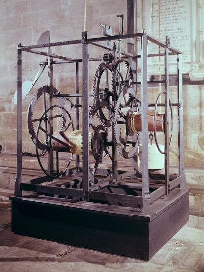 Cathedral Clock Made for the Tower in Salisbury Cathedral, Oldest Known Mechanical Timekeeper--Giclee Print
