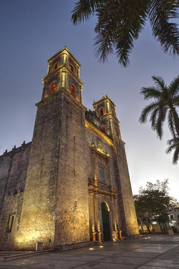 Cathedral De San Gervasio, Completed in 1570, Valladolid, Yucatan, Mexico, North America-Richard Maschmeyer-Photographic Print