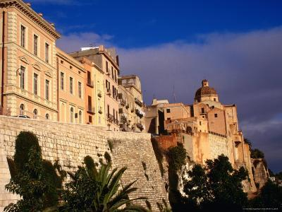 Cathedral from Bastione San Remy, Cagliari, Italy-Wayne Walton-Photographic Print