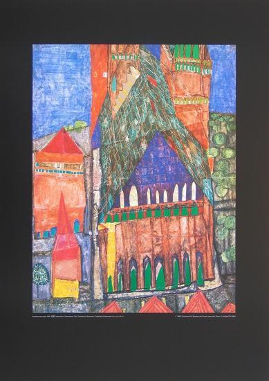 Cathedral No. I, Marrakesch-Friedensreich Hundertwasser-Art Print