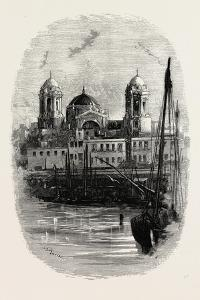 Cathedral of Cadiz, from the Harbour, Spain