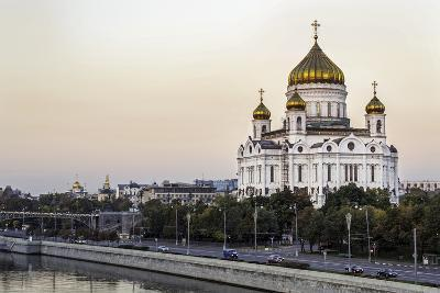 Cathedral of Christ the Saviour and Moskva River, Moscow, Russia-Gavin Hellier-Photographic Print