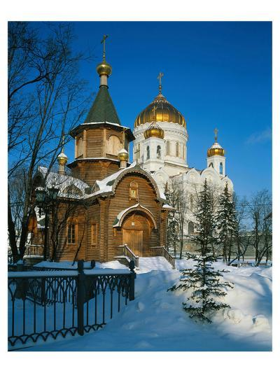 Cathedral of Christ the Saviour, Moscow, Russia--Art Print