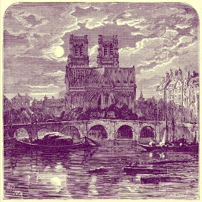 Cathedral of Notre Dame, Illustration from 'French Pictures' by Samuel Green, Published 1878-Richard Principal Leitch-Giclee Print
