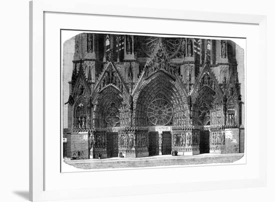 Cathedral of Notre-Dame, Reims, France, 1882-1884- Gautier-Framed Giclee Print