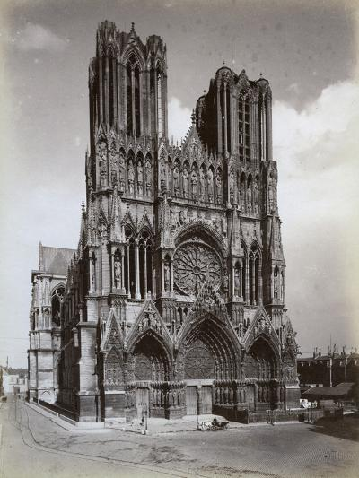 Cathedral of Notre-Dame, Reims, France, Late 19th or Early 20th Century--Photographic Print
