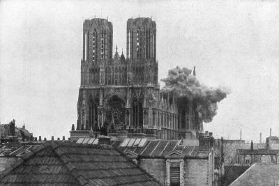 Cathedral of Reims, First World War, 19 April 1917--Giclee Print