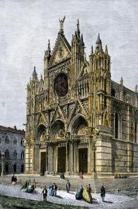 Cathedral of Siena, Italy, 1800s