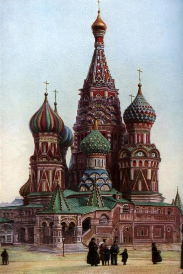 Cathedral of St Basil, Moscow, Russia, C1930S-SJ Beckett-Giclee Print