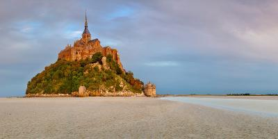 Cathedral on an Island, Mont Saint-Michel, Manche, Basse-Normandy, France--Photographic Print