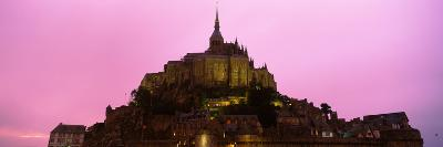 Cathedral on an Island, Mont Saint-Michel, Normandy, France--Photographic Print