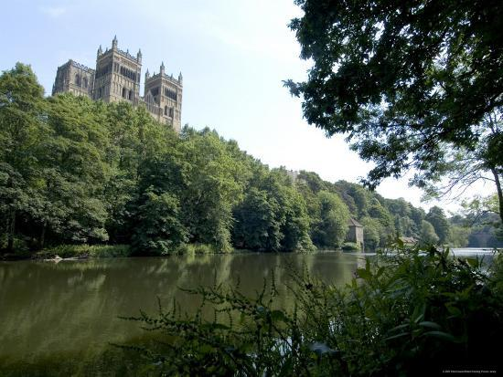 Cathedral Overlooking River Wear, Unesco World Heritage Site, Durham, County Durham, England-Ethel Davies-Photographic Print